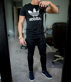 #adidasshirt - Sometimes all you need is a #selfie lol  [ http://ift.tt/1f8LY65 ]