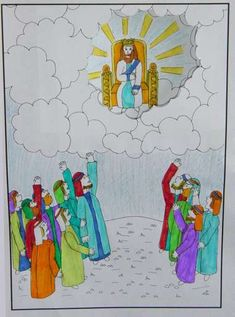 Hemelvaart: Jezus neemt plaats op de troon. www.gelovenisleuk.nl