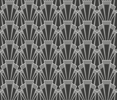 grey deco - large fabric by crowlands on Spoonflower - custom fabric