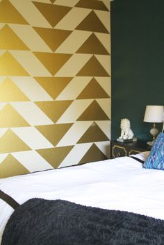 Gold Triangle Accent Wall