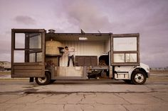 This is awesome! I love how the truck opens up. I can imagine screens on the interactive touch walls on the doors.