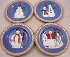 Debbie Mumm Snowman Plates ~ I put these out every Christmas
