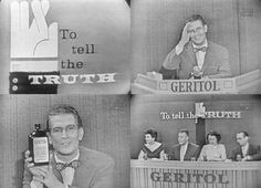"""To Tell the Truth"" TV game show hosted by Bud Collyer (and brought to you by Geritol!)"