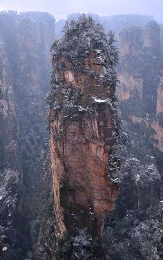 Горы Хуаншань. Фотограф Romain Jacquet-Lagrèze