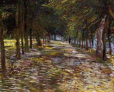 Avenue in Voyer d'Argenson Park at Asnieres, Vincent van Gogh