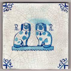 Paul Bommer's Delft Tiles Chinoiserie, Delft Tiles, Staffordshire Dog, Antique Tiles, Blue And White China, Handmade Tiles, Tile Art, Street Artists, Tile Design