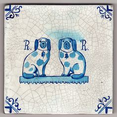 Delftware tile - Mr Rob Ryan's Staffordshire Dogs  Paul Brommer