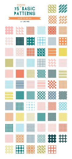 (Super Fun) Geometric Patterns by Anugraha Design on @creativemarket