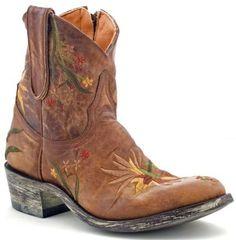 Womens Old Gringo Ellie Zipper Boots Brass #L630-1 via @allen sutton Boots