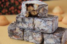 PALHA ITALIANA (sem glúten, também pode ser feito sem lactose) | Receita da chef Carla Serrano | Rendimento: cerca de 48 porções | Ingredientes: 2 latas de leite condensado (790 g)