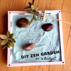 DIY Zen Garden on a budget (out of a picture frame!)