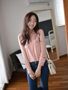 Korean Fashion Long Sleeve Women Blouse