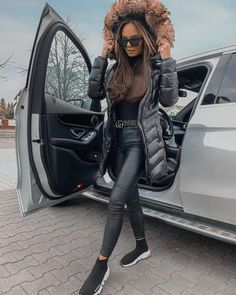 Winter Fashion Casual, Casual Fall Outfits, Classy Outfits, Stylish Outfits, Winter Outfits, Cute Outfits, Fashion Outfits, Womens Fashion, Nike Fashion