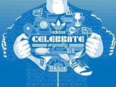 Adidas Celebrate Originality by Victor Ortiz - Iconblast , via Behance