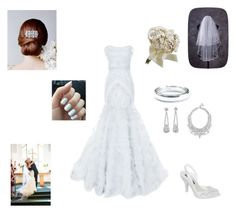 """The Big Day!"" by nana-yaa-1 on Polyvore featuring Marchesa, Melissa, Tiffany & Co. and GUESS"