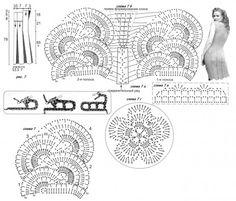Ленточное кружево с описанием и схемами
