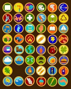 Russell's Badges from Up