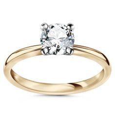 Pierścionek z brylantem, www.Bejewel.me/soliter-1-0-ct-1031 #jewellery #gold #bejewelme #bjwlme #shoponline #accesories #pretty #style