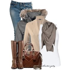 """""""furry hood"""" by sanchez-gaby on Polyvore"""