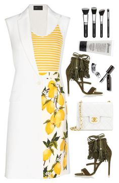 """""""making lemonade"""" by lisamichele-cdxci ❤ liked on Polyvore featuring BCBGMAXAZRIA, Glamorous, Dolce&Gabbana, Chanel, River Island, Bobbi Brown Cosmetics, polyvorecontest and patternmixing"""