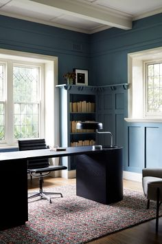 Brae House by Georgina Jeffries Study Office, Home Office, Contemporary Design, Modern Design, White Ceiling, Interior Design Studio, Amazing Architecture, Old Houses, Building A House