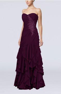 Gorgeous Sweetheart Sleeveless Chiffon Floor Length Homecoming Dresses