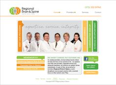 Medical practice website for a neurosurgery group.