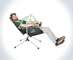 Lean back, take a sway to and fro', and have a little look at the night sky with NEMO's Stargaze reclining camp chair. A portable seat that swings & leans, leans & swings, the Stargaze looks to help you relax after a hike...or a 6-pack...with a gentle mo