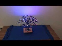 Arduino LED Bonsai Tree: An Arduino Uno controls a bunch of neopixel LEDs that are mounted on an tree shaped metallic structure. The setup also includes a Bluetooth receiver to automatically turn on the animation via an Android app (Tasker). Arduino Led, Electronics Mini Projects, Tree Structure, Led Projects, Cardboard Castle, Diy Tech, Interactive Art, Tree Shapes, Android Apps