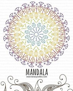 mandala free crochet pattern with video tutorial . Take a look at mandala free crochet pattern with video tutorial . Take a look at Crochet Diy, Crochet Simple, Crochet Mandala Pattern, Crochet Circles, Chunky Crochet, Crochet Diagram, Crochet Round, Doily Patterns, Crochet Chart