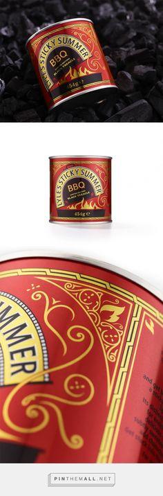 Lyle's Sticky Summer BBQ packaging design by DesignBridge (UK) - http://www.packagingoftheworld.com/2016/06/lyles-black-treacle-sticky-summer-bbq-g.html