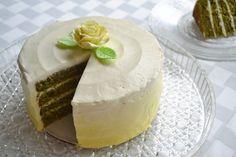 Building Buttercream: Green Tea Layer Cake with Lemon Honey Ombre Buttercream