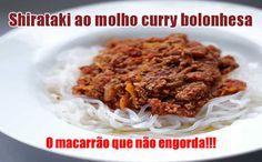 Macarrão Shirataki ao molho curry bolonhesa Dukan #dieta #dukan #faseataque #receitas #fit #fitness #emagrecer