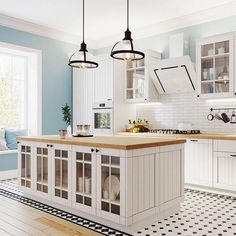 Wooden Cabinet With Natural Countertop Kitchen island design idea. - Wooden Cabinet With Natural Countertop Kitchen island design ideas: anything on the s - Chairs For Kitchen Island, Kitchen Island With Stove, Rolling Kitchen Island, Rustic Kitchen Island, Wooden Kitchen, Kitchen Decor, Kitchen Design, Kitchen Islands, White Cabinets White Countertops