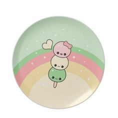 Kawaii Hanami Dango Plate - soooooo adorable!