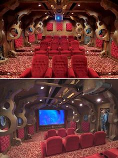 Steam punk home theater.  They need more space for snacks and drinks.  The Nautilus