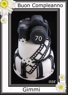 Camera Cake @ Danielle McMillion-thought of you when I saw this! Cakes For Men, Just Cakes, Pretty Cakes, Beautiful Cakes, Hubby Birthday, 30th Birthday, Birthday Cakes, Camera Cakes, Film Cake