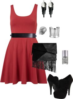 Edgy summer night out, created by clare278 on Polyvore