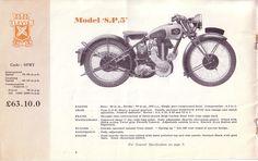 Red Devil Motors: Levis Motor Cycles 1938 brochure