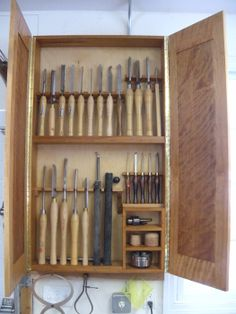 Turning Tool Cabinet - by Glen Peterson @ LumberJocks.com ~ woodworking community