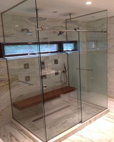 You can get that seamless look with a bypass or sliding shower door! Ask your Re-Bath Omaha design consultant about a barn door shower door for your bathroom remodel project. Shower Doors, Design Consultant, Barn, Bathroom, Washroom, Converted Barn, Full Bath, Bath, Bathrooms