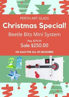 The Beetle Bits Mini Cutting System is on sale at Perth Art Glass. Kiln Formed Glass, Perth, Beetle, Glass Art, Mini, Artist, Christmas, Yule, Xmas