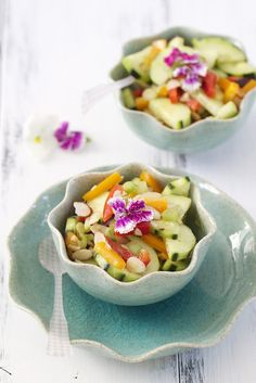 Summer Cucumber Salad by epicureanmom.com #Summer #Healthy