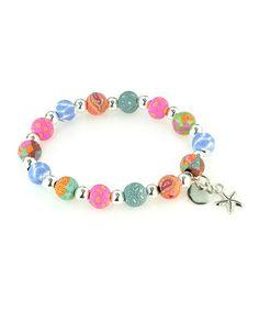 Look what I found on #zulily! Mosaic Petite Silver Ball & Starfish Stretch Bracelet by JILZARA #zulilyfinds
