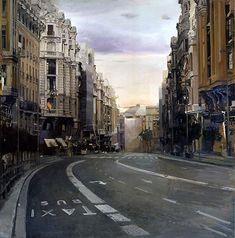 Pintura hiperealista  De Madrid al cielo «  Pedro del Toro
