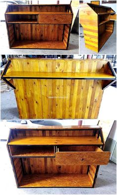 Pallets reception table idea is one of great idea for your business environment. Why to buy expensive furniture when you can craft it your own easily and economically.Re-purposed wood pallet furniture is becoming popular among many for its utility and multipurpose uses. We are at advantage for gathering the used wood pallets inexpensively. This factor makes the whole activity interesting.
