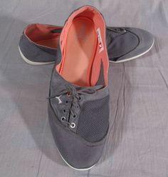 Women's Puma Eco Ortholite Shoes Gray Size 11 M Slip-on Canvas Low #PUMA #Slipon