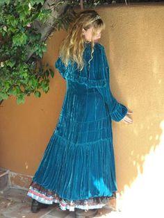 Blue Velvet Victorian Western Coat