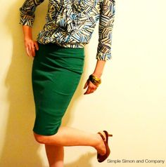 How to sew a KNIT pencil skirt...or at least how I do it... | Simple Simon and Company