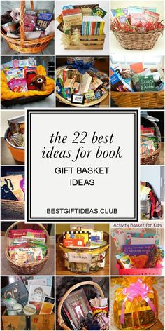 The 22 Best Ideas for Book Gift Basket Ideas . I love gift baskets! Themed Gift Baskets, Raffle Baskets, Book Lovers Gifts, Book Gifts, Corporate Gift Baskets, Gift Baskets For Women, Book Baskets, Birthday Book, Gifts For Bookworms